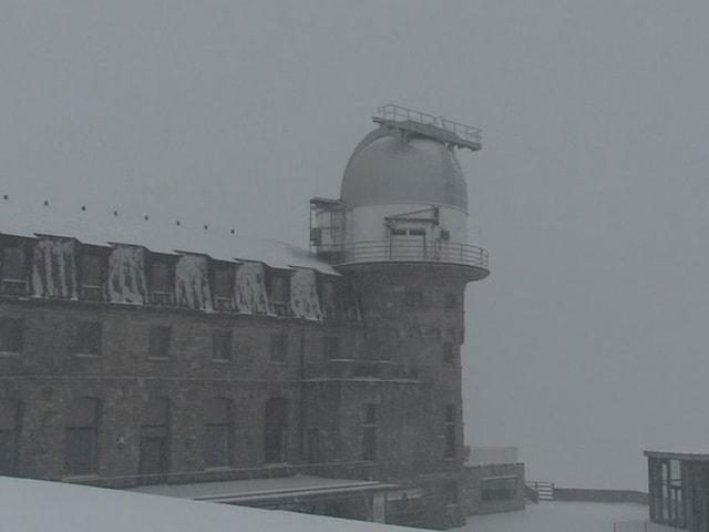 Schneefall auf dem Gornergrat.