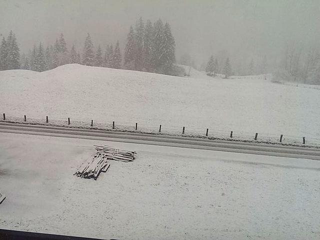 Kandersteg in Schnee gehüllt