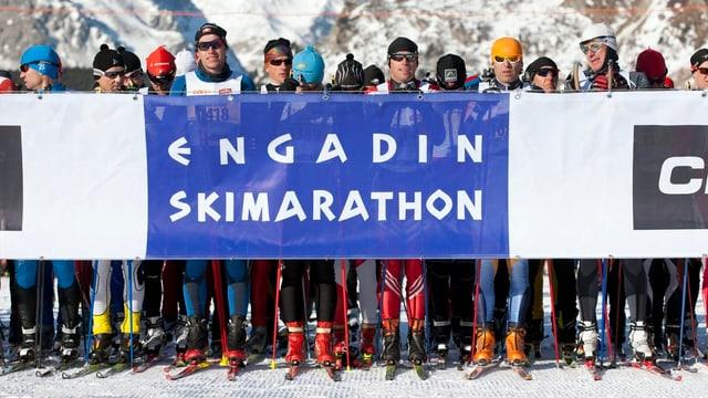 Avant la partenza al Maraton da skis engiadinais.