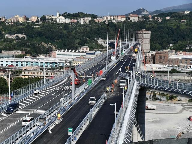 In weniger als zwölf Monaten wurde die Brücke erstellt, die den eingestürzten «Ponte Morandi» ersetzt.