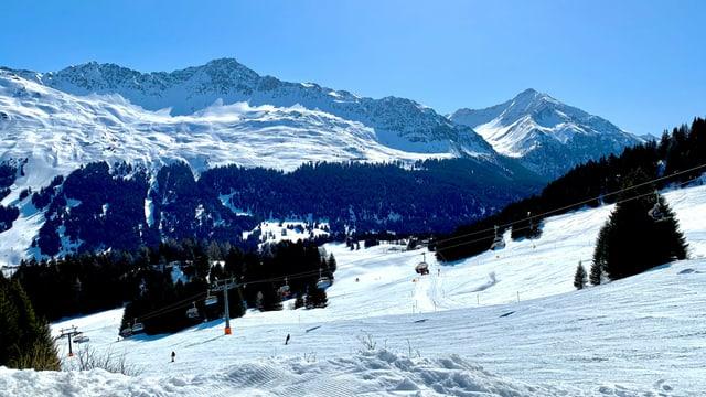 Perfekte Skipisten im Skigebiet Lenzerheide.