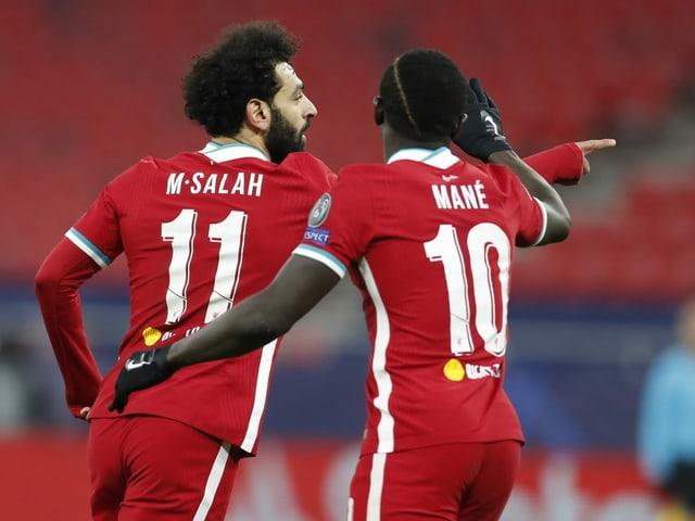 Die Torschützen Mohamed Salah und Sadio Mané.