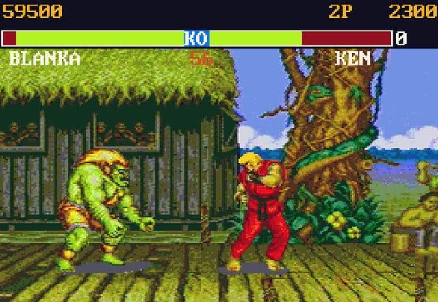 Eine Spielszene aus dem MS-DOS-Game «StreetFighter II: The World Warrior»