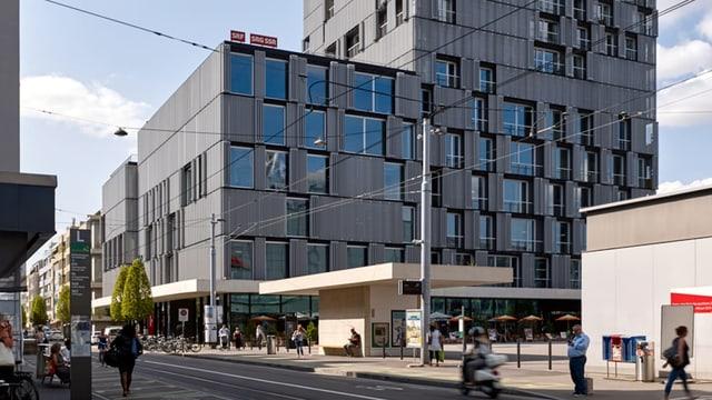 SRF Studio Basel im Meret-Oppenheim-Hochhaus – direkt beim Bahnhof Basel SBB