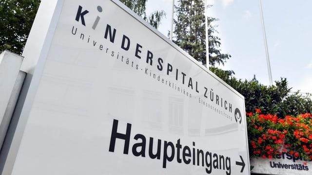 Haupteingang des Kinderspitals Zürich