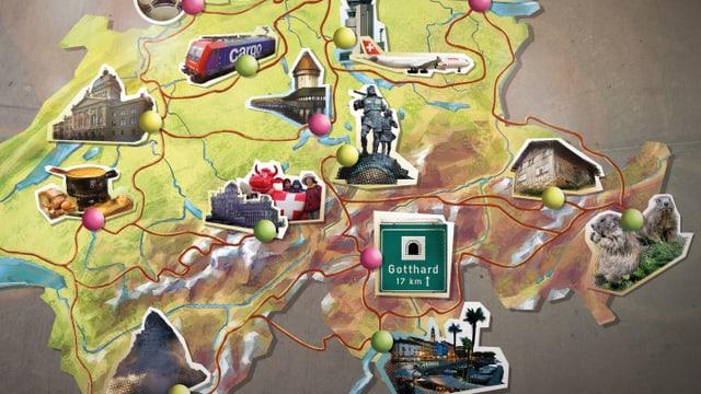 Karte vom Spiel «Schatzjäger»