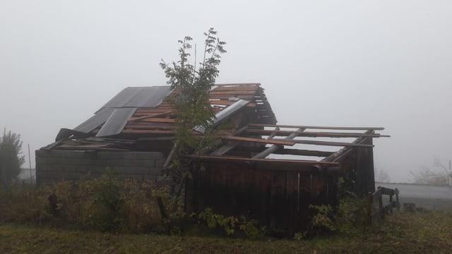 Ein Haus ohne Dach.