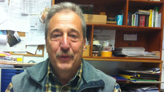 Arturo Plozza, il president communal da Brusio.