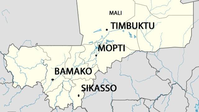 Die Karte von Mali