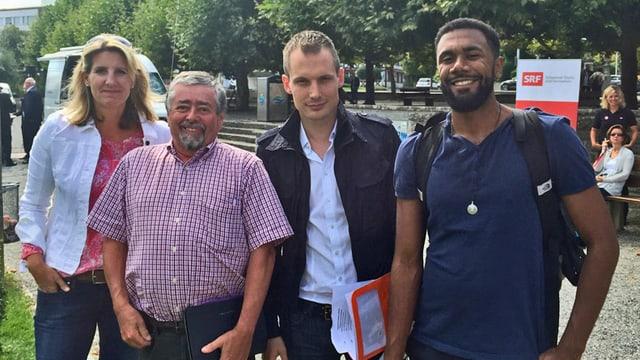 Drei Wähler mit Jonas Projer