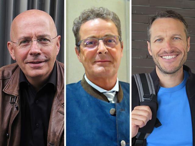 Robert Métrailler und Christophe Clivaz sind die Herausforderer von Jean-René Fournier.