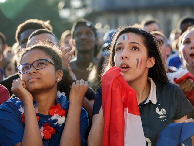 Fans in Paris.