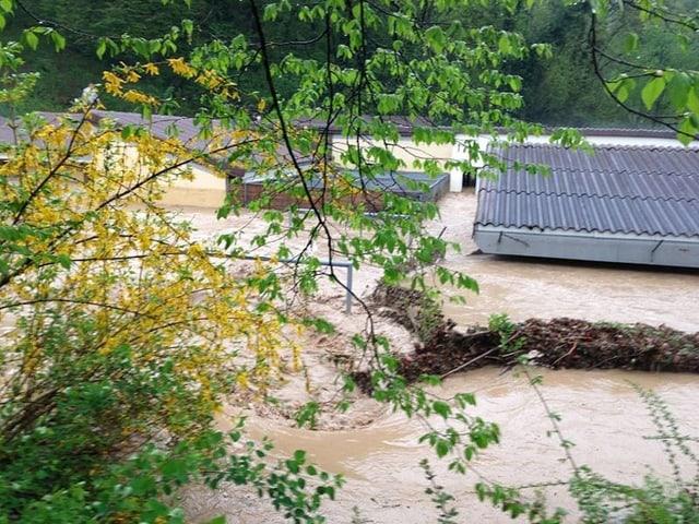 Hochwasser in Schaffhausen