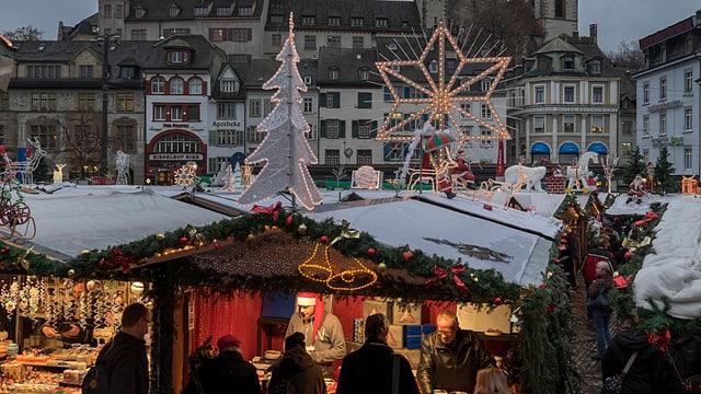 Weihnachtsmarkt in Basel.