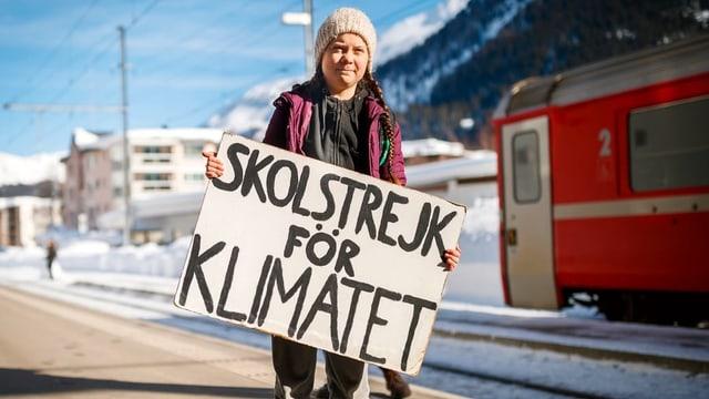Greta Thunberg in Davos am WEF