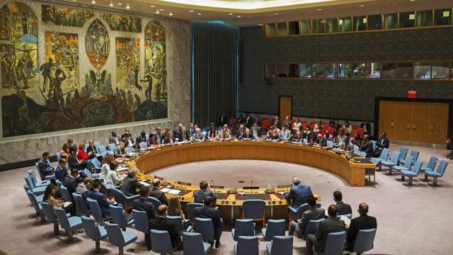 Blick in den vollbesetzten UNO-Sicherheitsrat