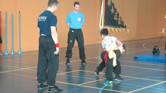 Kinder Kung Fu Kampf