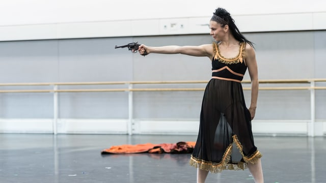 Royal-Ballett-Ballerina Natasha Osipova bei der Probe des Stücks «Mayerling».