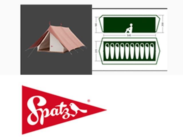 Ein Spatz-Zelt