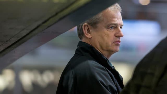 Olten-Trainer Gustafsson im Stadion Kleinholz.