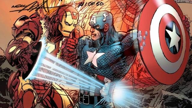 Cap kämpft gegen Iron Man