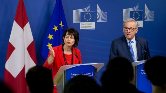 Doris Leuthard e Jean-Claude Juncker.