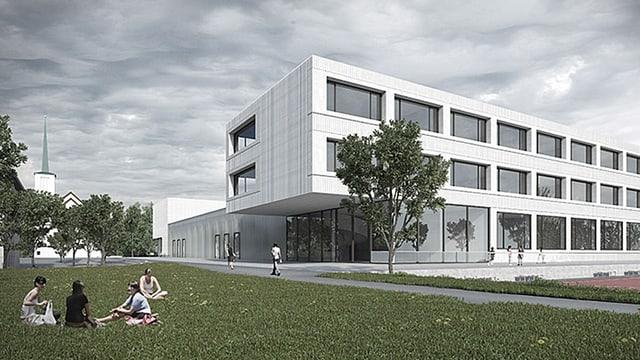 Visualisierung des geplanten neuen Gebäudes