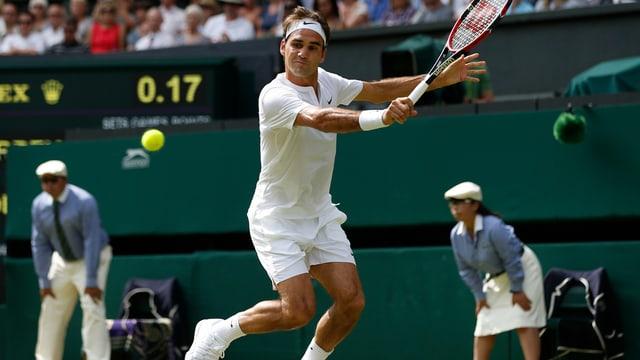 Roger Federer dat tennis