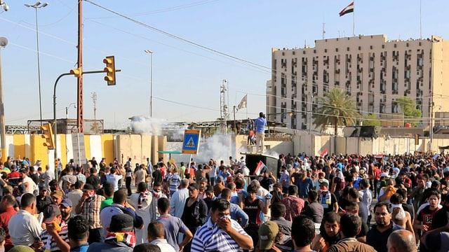 Demonstrants en la chapitala da l'Irac.