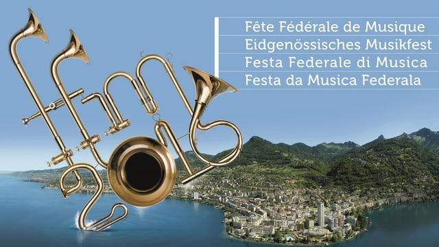 Il logo da la festa da musica federala a Montreux
