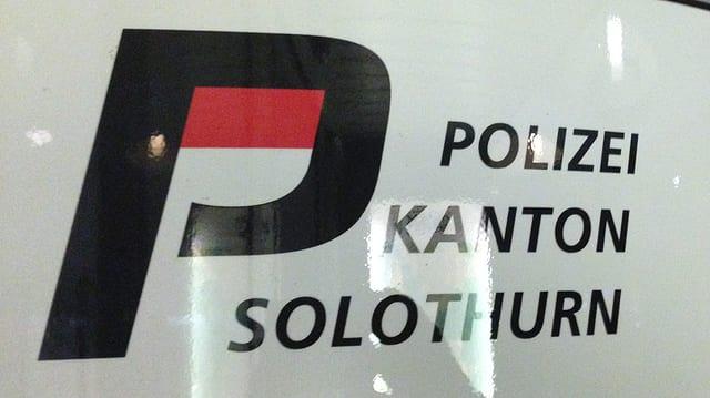 Schild Kantonspolizei Solothurn