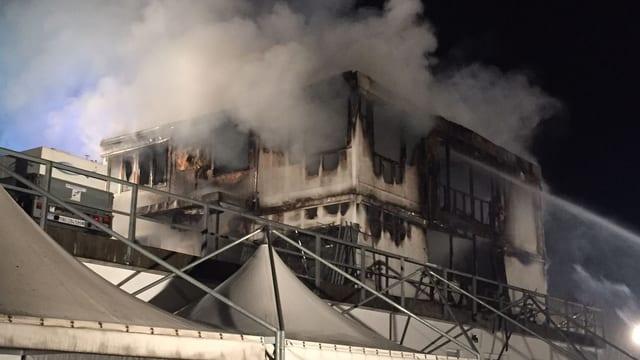 Ausgebranntes Gebäude