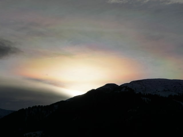 Sonnenuntergang in Regenbogenfarben