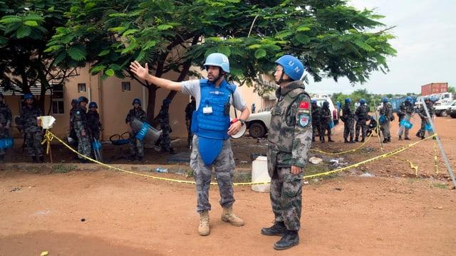 Blauhelm-Soldaten in Südsudan