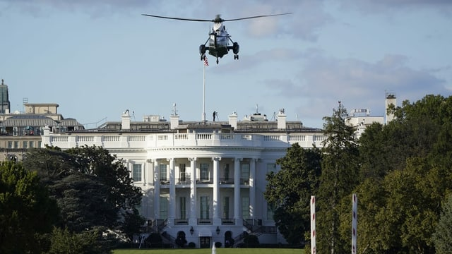 Helikopter startet