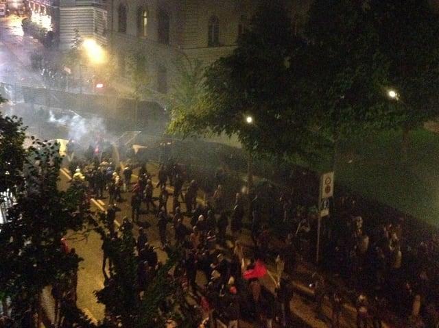 Tränengas-Schwaden in der Berner Innenstadt