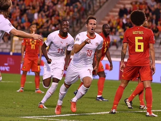 Gavranovic suenter avair sajettà il sulet gol da l'equipa svizra.