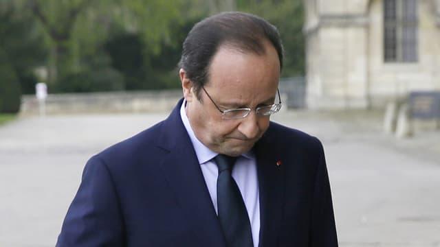 Porträt von Hollande.