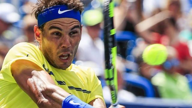 Rafael Nadal setzt sich gegen Landsmann Ramos-Vinolas durch.
