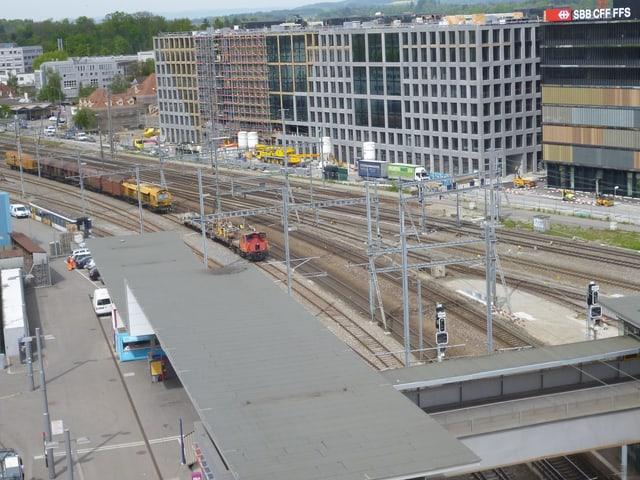 Das Nadelör für den ganzen Schienenverkehr ist diese Abzweigung von Bern Richtung Zürich, Biel und Berner Oberland.