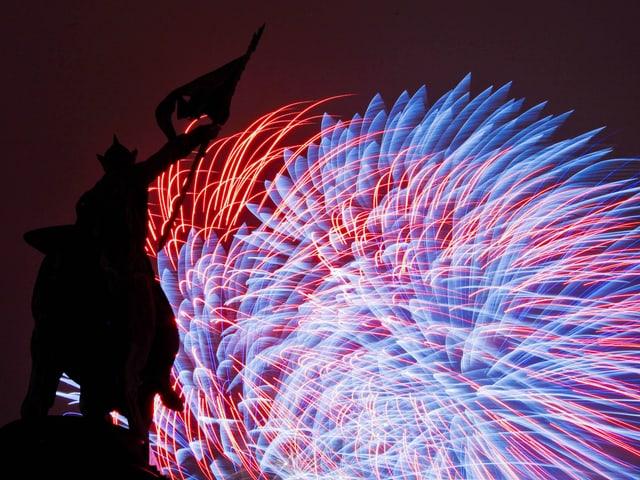 Farbriges Feuerwerk.
