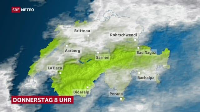 Das Mittelland unter Hochnebel.