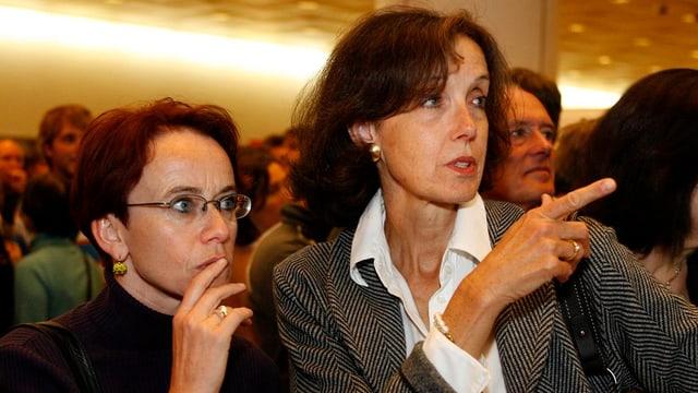 Barbara Schneider und Eva Herzog im Bild