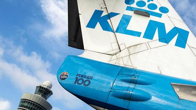 Flügel einer KLM