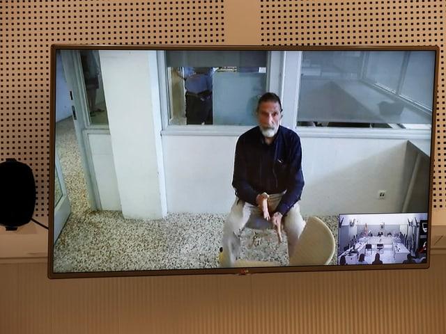 John McAfee während einer Videokonferenz.