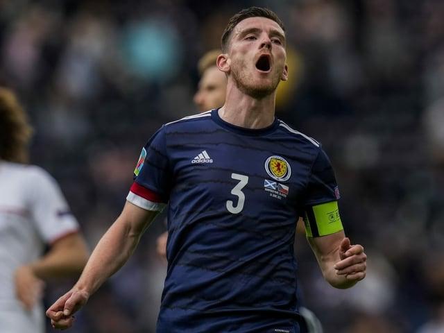 Schottlands Captain Andrew Robertson