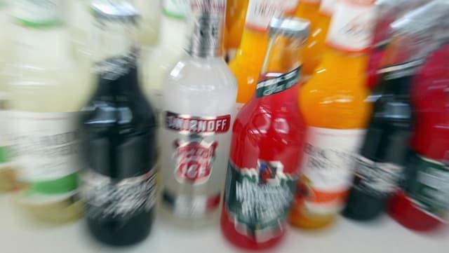 Spirituosen-Flaschen
