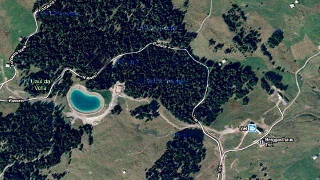 Luftaufnahme vom Kraftwerks Russein