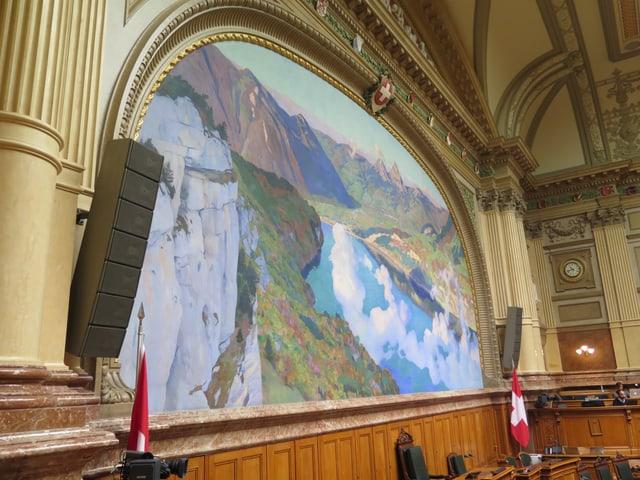 Gemälde im Nationalratssaal