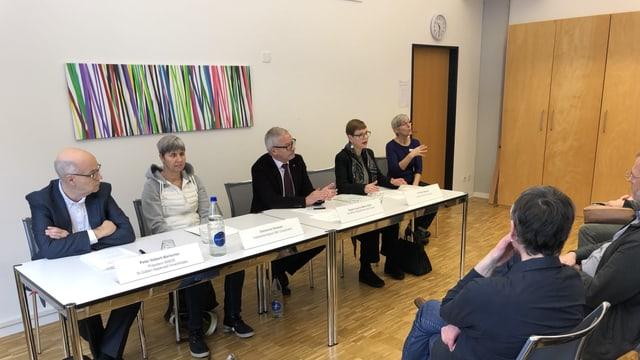 Medienkonferenz in der «Dreischiibe» in St. Gallen.